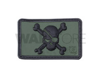 Pirate Skull Rubber Patch