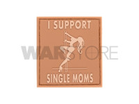 I Support Single Mums Rubber Patch