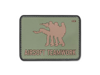 101 Inc. - 3D Patch - Airsoft Teamwork - OD Green