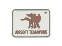 101 Inc. - 3D Patch - Airsoft Teamwork - Sand