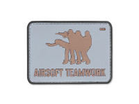 101 Inc. - 3D Patch - Airsoft Teamwork - Grey